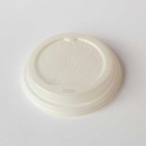 90mm Paper Cup PLA Sip Thru Lids 12/16/20oz