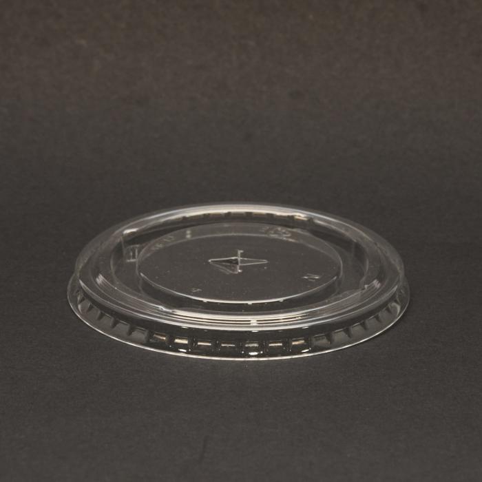 80mm Paper Cup Flat Clear Straw Slot Lids 6/8oz