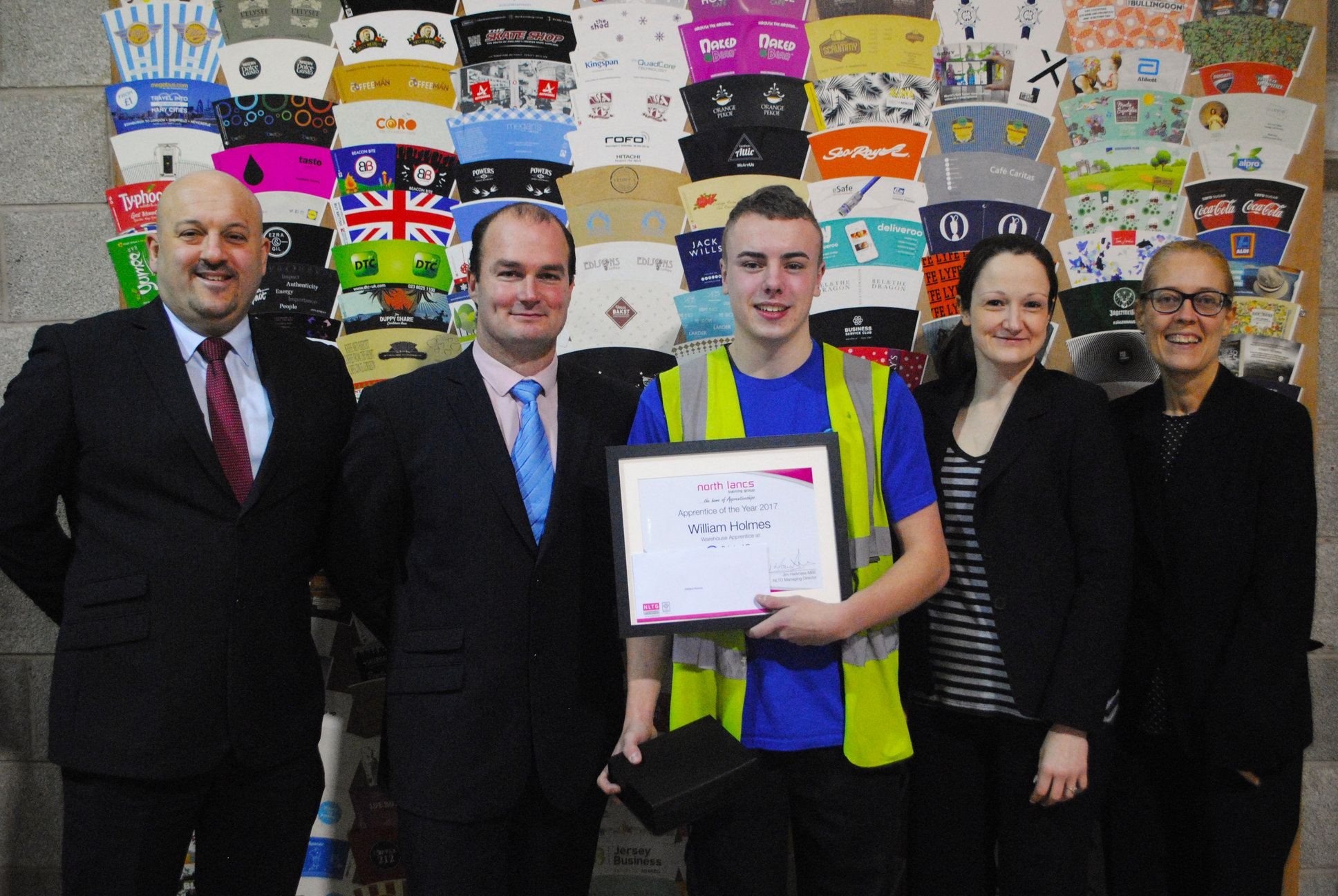 NLTG Apprentice of the Year – William Holmes, Printed Cup Company